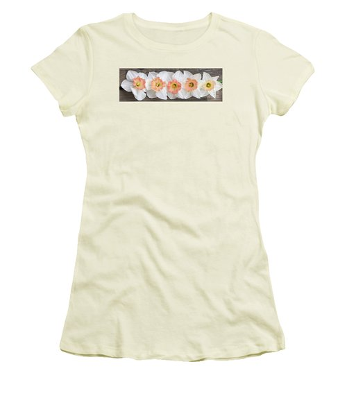 Women's T-Shirt (Junior Cut) featuring the photograph Shades Of Pink by Michele Penner