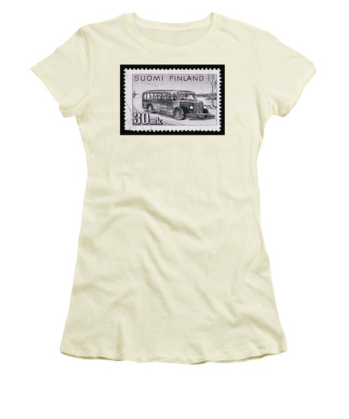 Women's T-Shirt (Junior Cut) featuring the photograph Speedy Old Bus by Andy Prendy