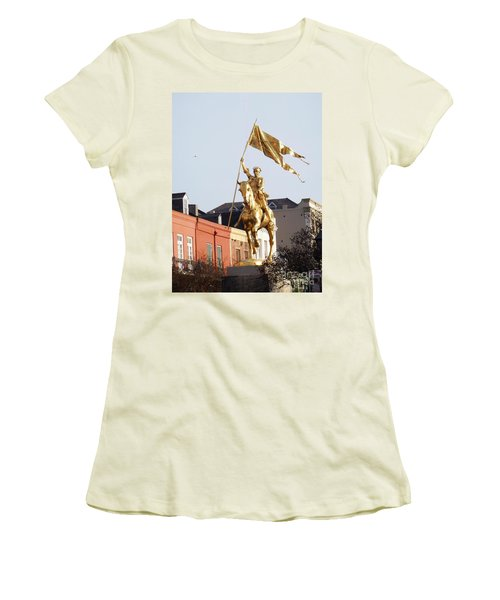Women's T-Shirt (Junior Cut) featuring the photograph St. Joan At Dawn by Alys Caviness-Gober