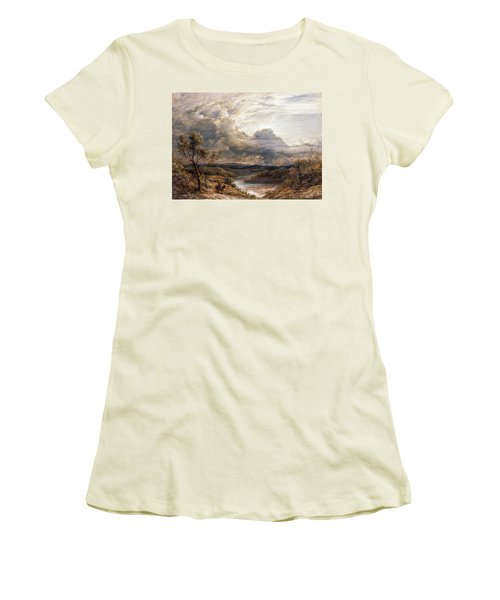 Sun Behind Clouds Women's T-Shirt (Junior Cut) by John Linnell