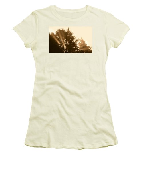 Sunrise In Sepia Women's T-Shirt (Athletic Fit)
