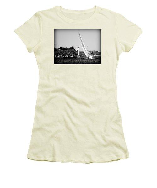 Women's T-Shirt (Junior Cut) featuring the photograph Tall Ship Race 1 by Pedro Cardona
