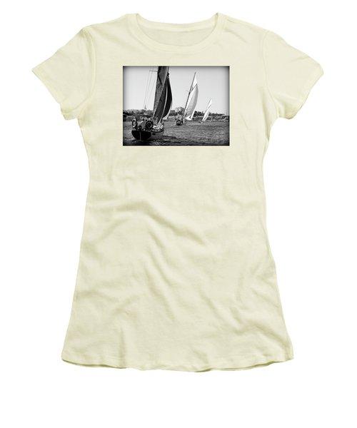 Women's T-Shirt (Junior Cut) featuring the photograph Tall Ship Races 2 by Pedro Cardona