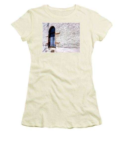 The Back Door Women's T-Shirt (Junior Cut) by Betty Northcutt