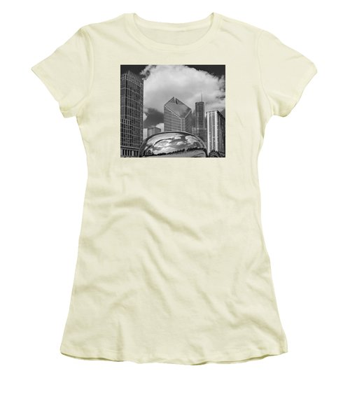 The Bean Chicago Illinois Women's T-Shirt (Junior Cut) by Dave Mills
