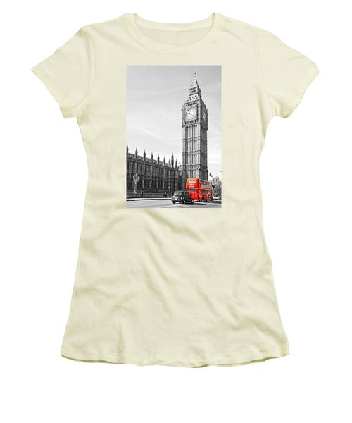 Women's T-Shirt (Junior Cut) featuring the photograph The Big Ben - London by Luciano Mortula