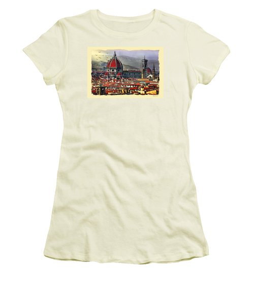 The City Of Florence Women's T-Shirt (Athletic Fit)