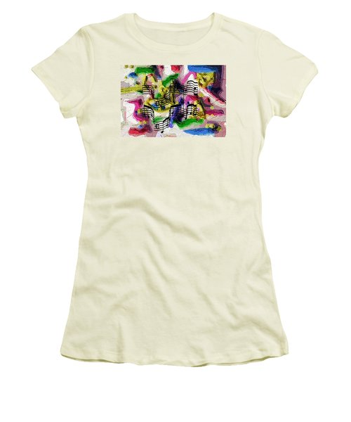 Women's T-Shirt (Junior Cut) featuring the digital art The Music In Me by Alec Drake