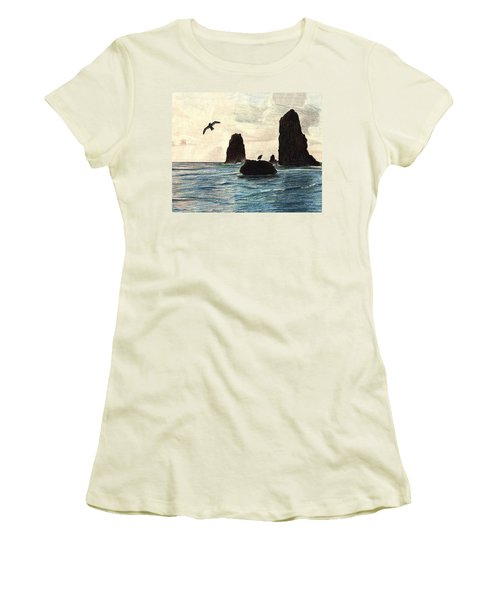 The Needles Women's T-Shirt (Junior Cut) by Wendy McKennon