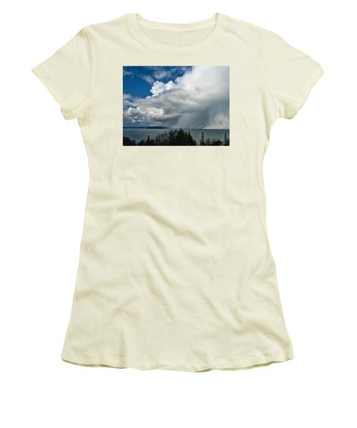 Women's T-Shirt (Junior Cut) featuring the photograph The Wall by David Gleeson