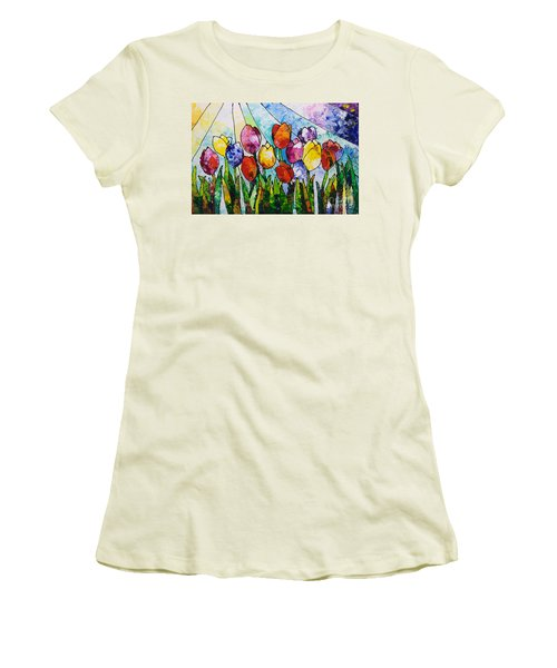 Tulips On Parade Women's T-Shirt (Athletic Fit)