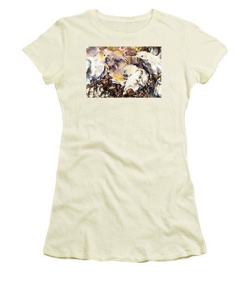 Two's Company Women's T-Shirt (Junior Cut) by Rae Andrews