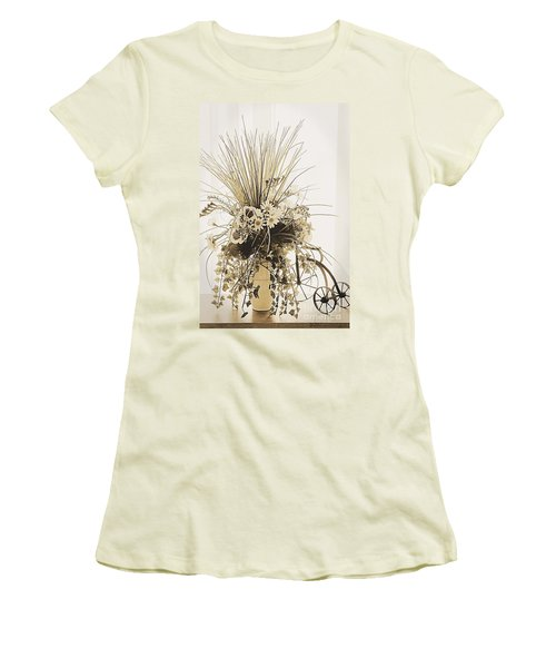Vase With Flowers On A Window Table Women's T-Shirt (Athletic Fit)
