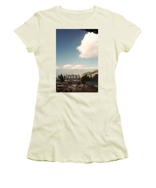 Women's T-Shirt (Junior Cut) featuring the photograph View From The Window by Fotosas Photography