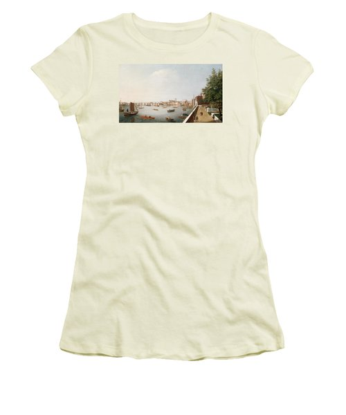 View Of The River Thames From The Adelphi Terrace  Women's T-Shirt (Junior Cut) by William James
