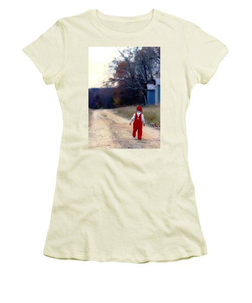 Walking On Pawpaw's Road Women's T-Shirt (Athletic Fit)