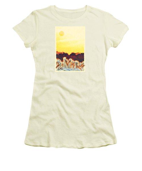 Women's T-Shirt (Junior Cut) featuring the photograph White Pelicans In Sun by Dan Friend