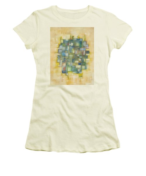 Yellow With Green  Women's T-Shirt (Junior Cut)