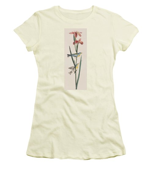 Blue Yellow-backed Warbler Women's T-Shirt (Athletic Fit)