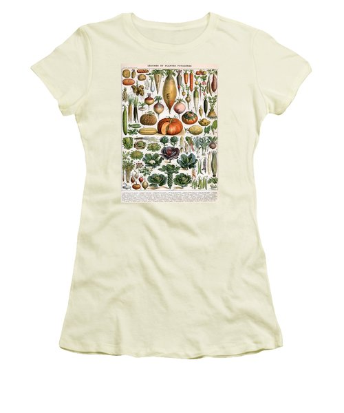 Illustration Of Vegetable Varieties Women's T-Shirt (Junior Cut) by Alillot