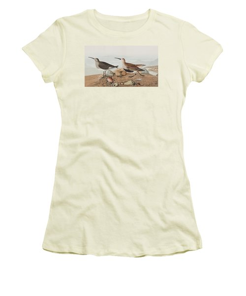 Red Backed Sandpiper Women's T-Shirt (Athletic Fit)
