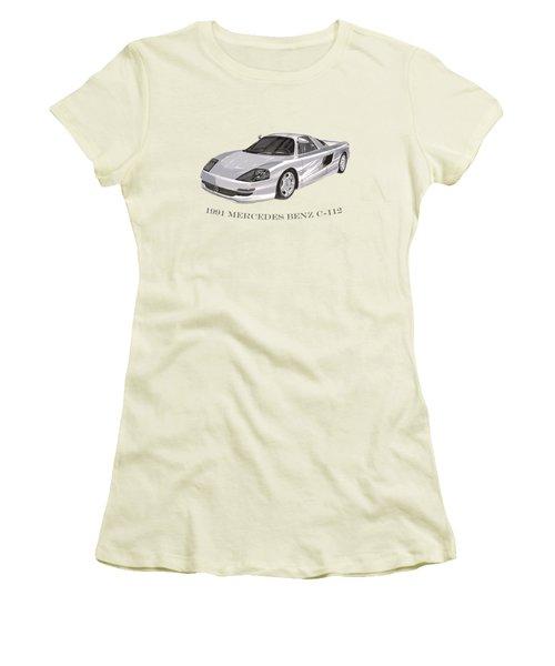 1991 Mercedes Benz C 112 Women's T-Shirt (Junior Cut) by Jack Pumphrey