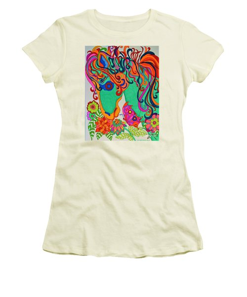 A Rainbow Called Romeo Women's T-Shirt (Athletic Fit)