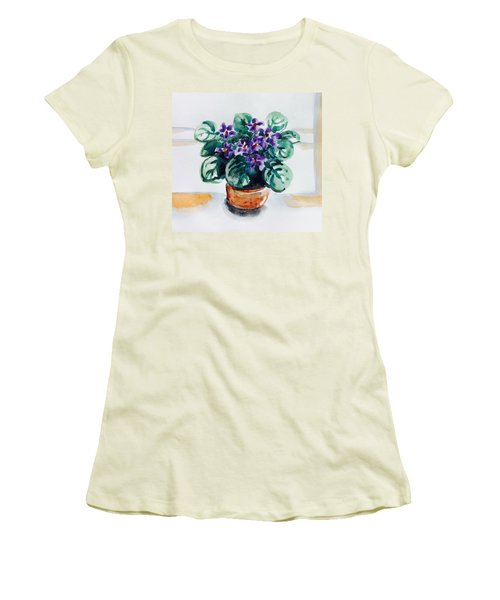 African Violet  Women's T-Shirt (Athletic Fit)
