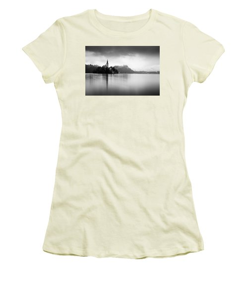 After The Rain At Lake Bled Women's T-Shirt (Athletic Fit)
