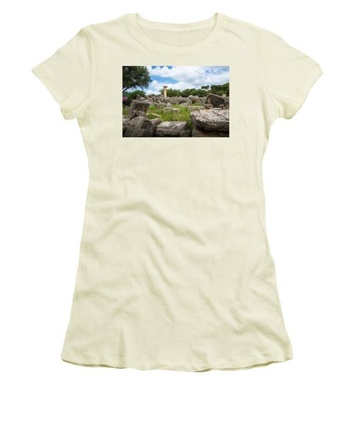 Ancient Olympia / Greece Women's T-Shirt (Junior Cut) by Stavros Argyropoulos