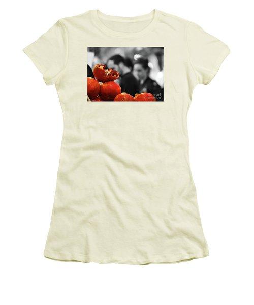 At The Market Women's T-Shirt (Junior Cut) by Arik Baltinester