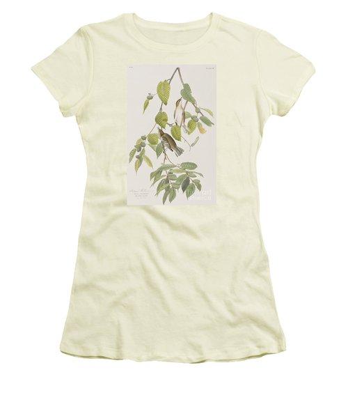 Autumnal Warbler Women's T-Shirt (Junior Cut) by John James Audubon