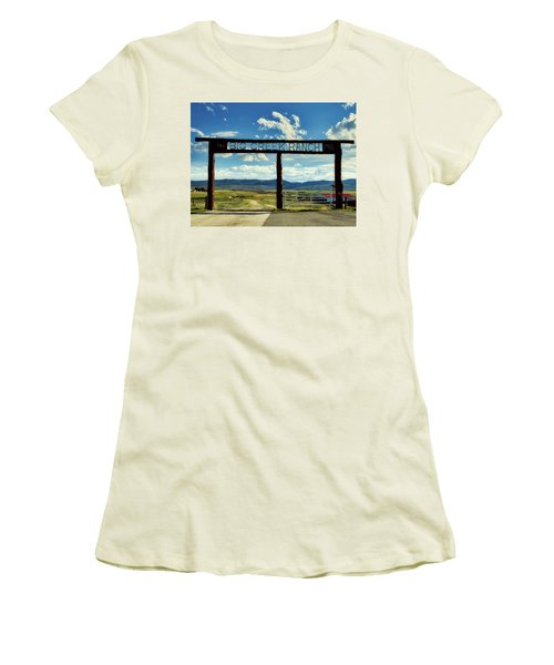 Big Creek Ranch Women's T-Shirt (Junior Cut) by L O C