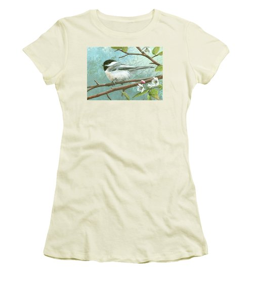 Black Cap Chickadee Women's T-Shirt (Athletic Fit)