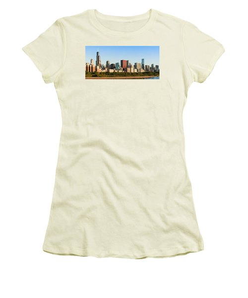 Chicago Downtown At Sunrise Women's T-Shirt (Athletic Fit)
