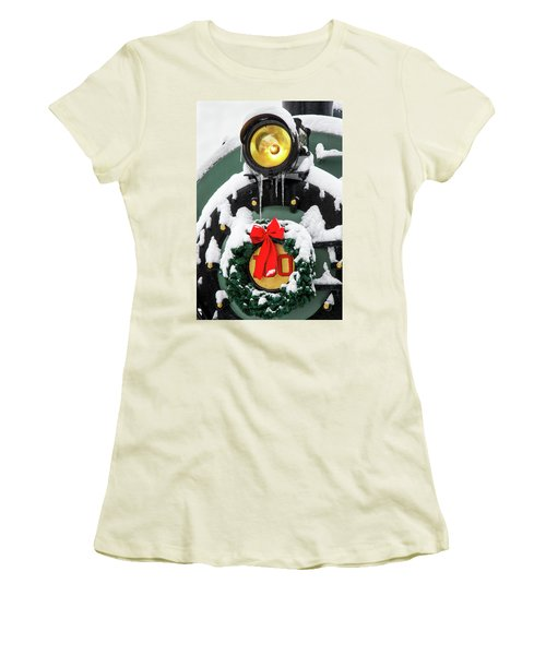 Christmas Train At Pacific Junction Women's T-Shirt (Athletic Fit)