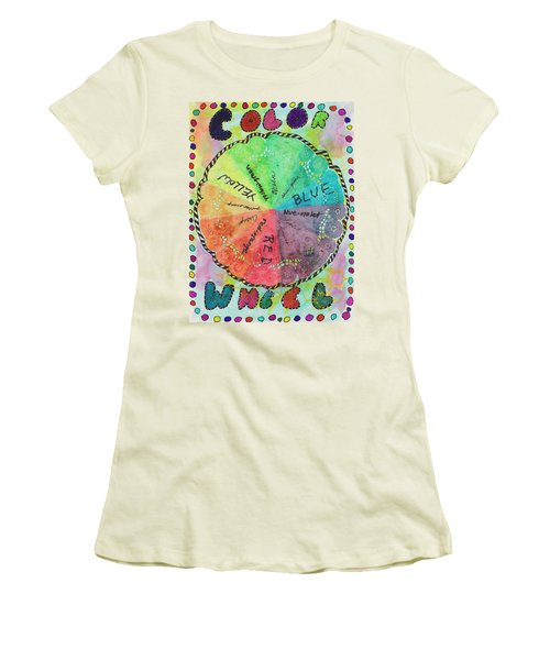 Color Wheel Women's T-Shirt (Athletic Fit)
