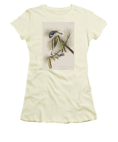 Crested Titmouse Women's T-Shirt (Athletic Fit)