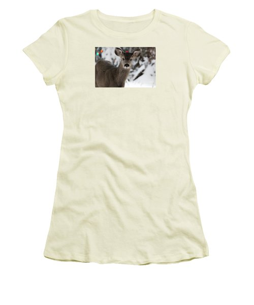 Deer Women's T-Shirt (Junior Cut) by Irina Hays