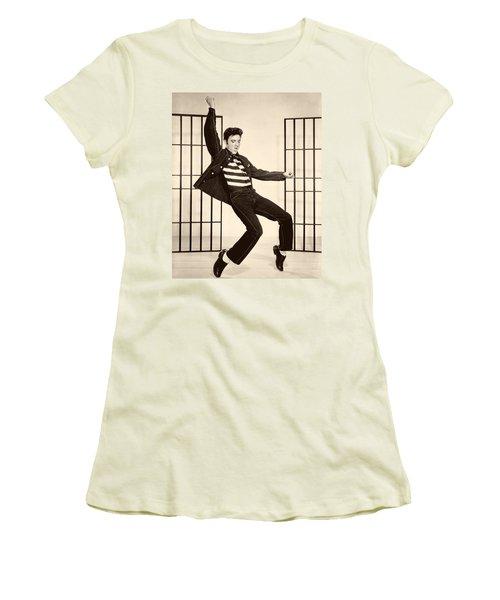 Elvis Presley In Jailhouse Rock 1957 Women's T-Shirt (Athletic Fit)