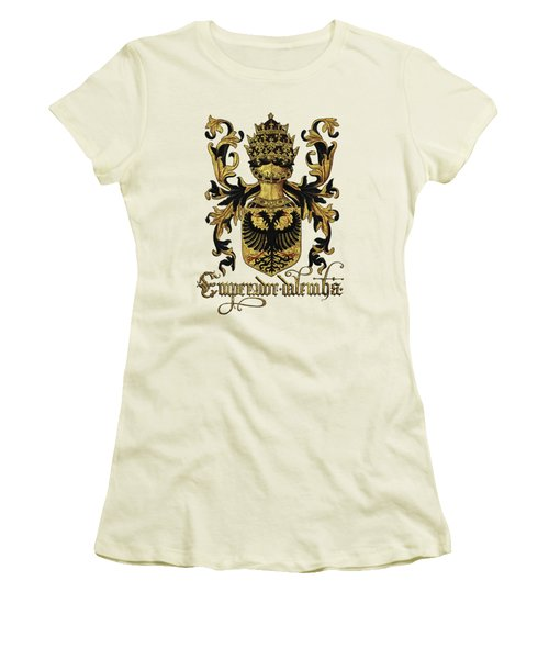 Emperor Of Germany Coat Of Arms - Livro Do Armeiro-mor Women's T-Shirt (Junior Cut) by Serge Averbukh