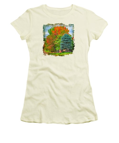 Fall Colors Women's T-Shirt (Junior Cut) by John M Bailey