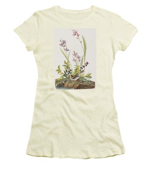 Field Sparrow Women's T-Shirt (Junior Cut) by John James Audubon
