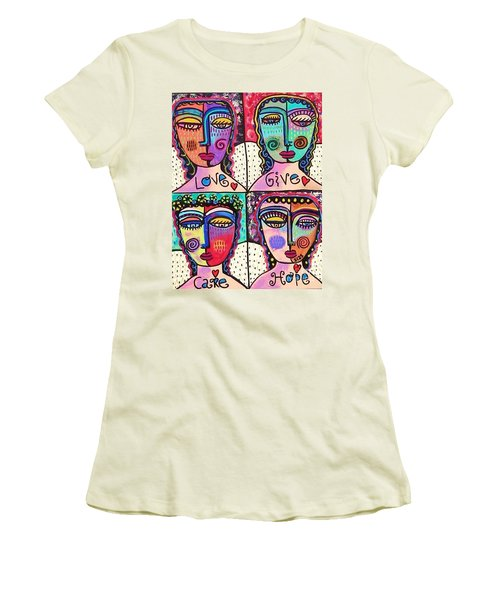 Four Gemstone Angels  Women's T-Shirt (Athletic Fit)