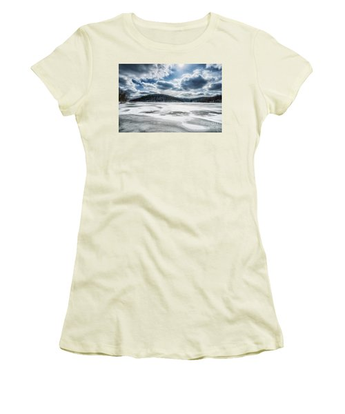Frozen Lake Women's T-Shirt (Athletic Fit)