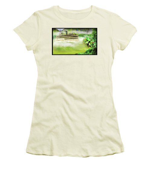 Women's T-Shirt (Junior Cut) featuring the drawing Heart Of Darkness by Michael Cleere