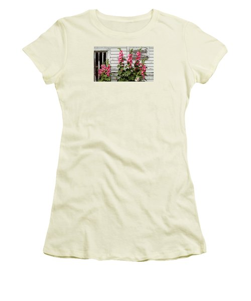Hollyhocks Women's T-Shirt (Athletic Fit)