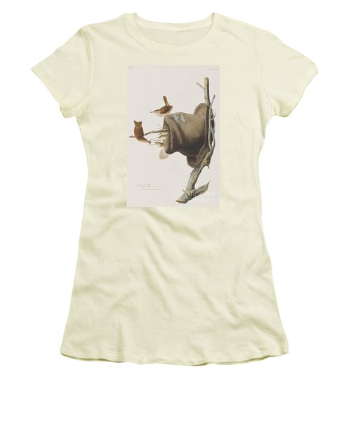 House Wren Women's T-Shirt (Junior Cut) by John James Audubon