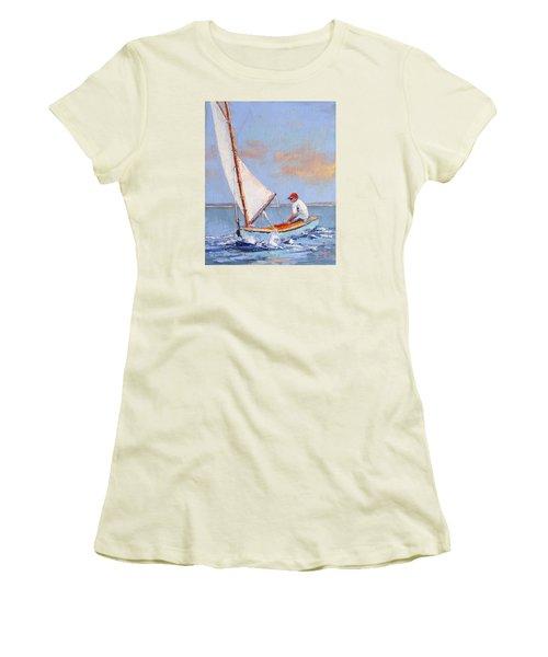 Just Play Women's T-Shirt (Junior Cut) by Trina Teele