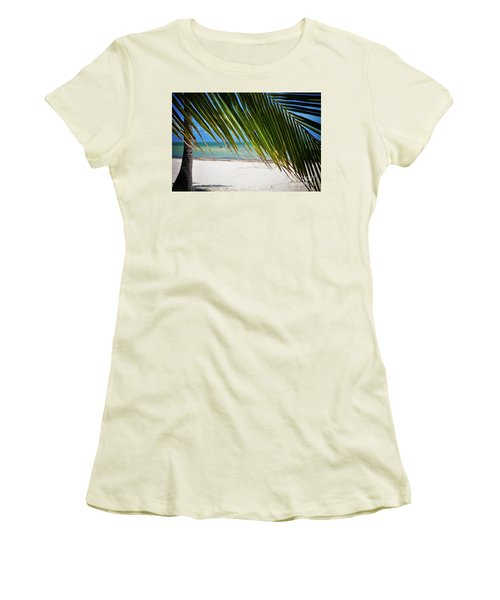 Women's T-Shirt (Junior Cut) featuring the photograph Key West Palm by Kelly Wade